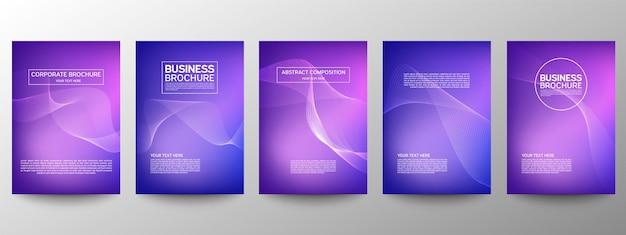 Motif de ligne abstraite du jeu de conception d'affiche