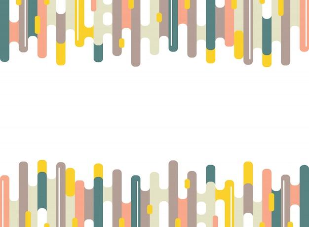 Motif de lignes abstraites coloré tiret rayures d'arrière-plan minimal.