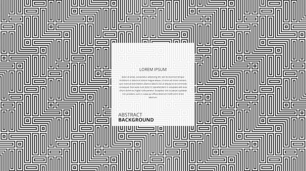 Motif de lignes abstraites de forme carrée