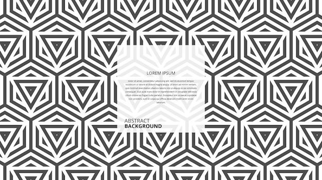 Motif De Lignes Abstraites De Forme Géométrique Sans Soudure Vecteur Premium