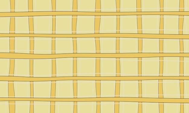 Motif de lignes abstraites jaunes, blanches et noires dans un style harmonieux. conception pour vos vêtements.