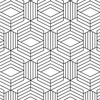 Motif de lignes abstraites linéaires