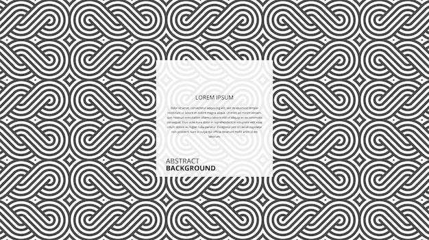 Motif de lignes abstraites en osier circulaire géométrique