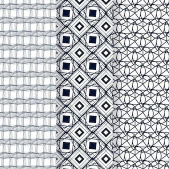 Motif de lignes abstraites plat linéaire