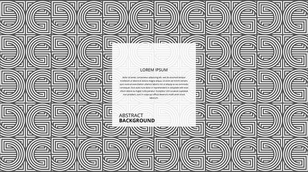 Motif de lignes carrées circulaires décoratives abstraites