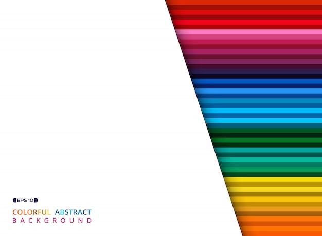 Motif de lignes colorées avec un espace blanc et clair de texte