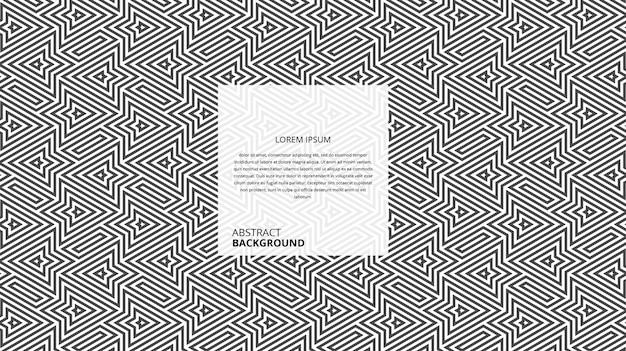 Motif de lignes de fleurs géométriques abstraites