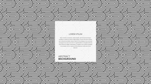Motif de lignes de forme circulaire courbe géométrique abstraite