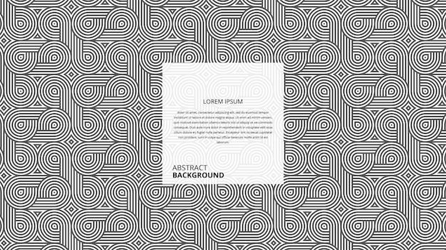 Motif de lignes de forme circulaire décorative abstraite