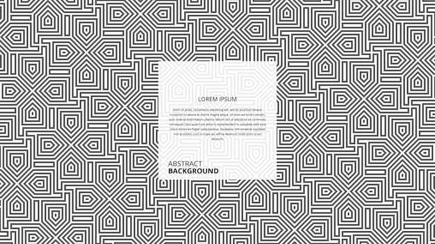 Motif de lignes de forme de flèche géométrique abstraite