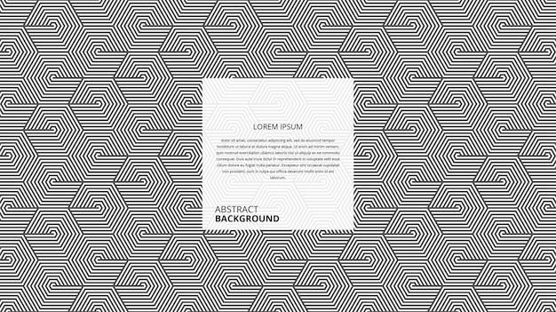 Motif de lignes de forme hexagonale diagonale décorative abstraite