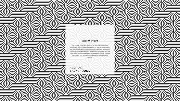 Motif de lignes géométriques abstraites de forme circulaire diagonale