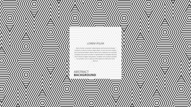 Motif de lignes géométriques abstraites triangle hexagonal