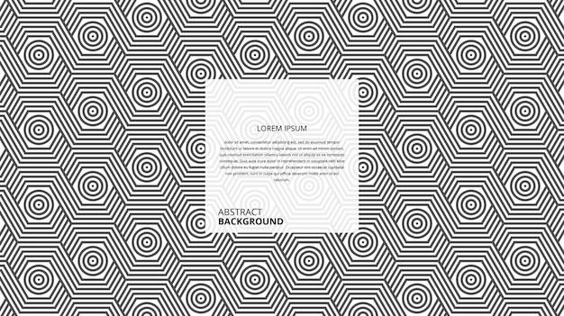 Motif de lignes géométriques abstraites en zigzag hexagonales