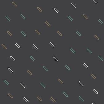 Motif de lignes géométriques aléatoires, arrière-plan abstrait dans un style rétro des années 80 et 90. illustration géométrique colorée
