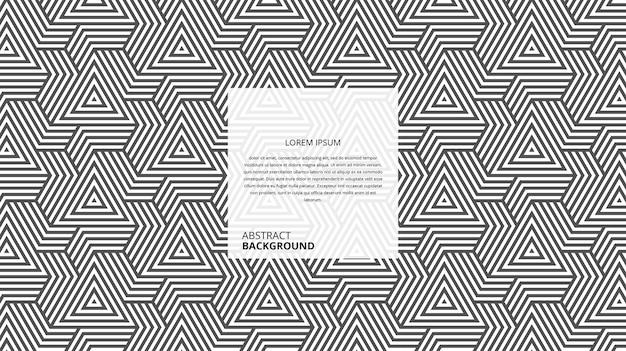 Motif de lignes en osier triangle décoratif abstrait