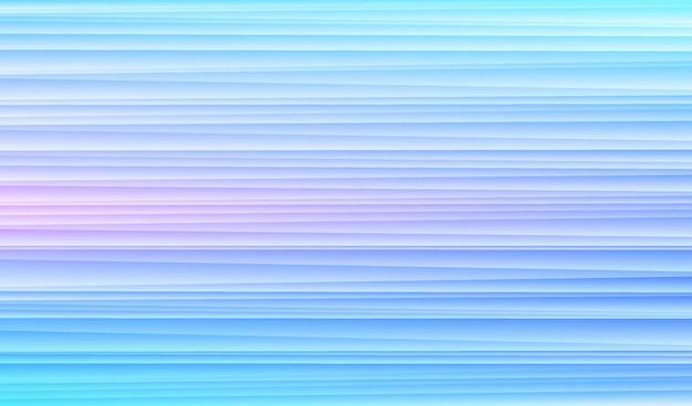 Motif de lignes de rayures de vitesse horizon abstrait sur fond de couleur hologramme bleu