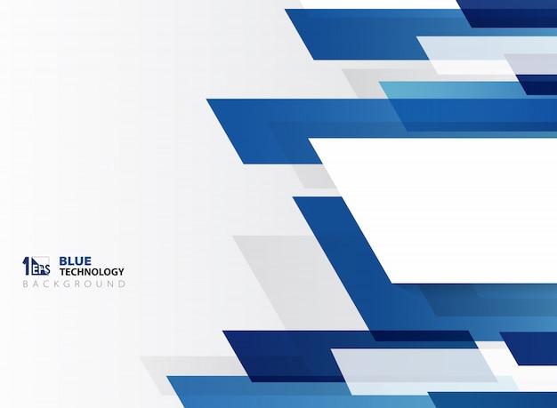 Motif de lignes de technologie abstraite dégradé bleu
