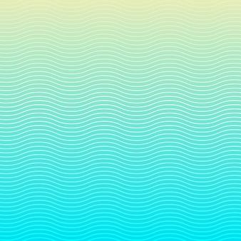 Motif de lignes de vagues blanches sur fond bleu et texture.
