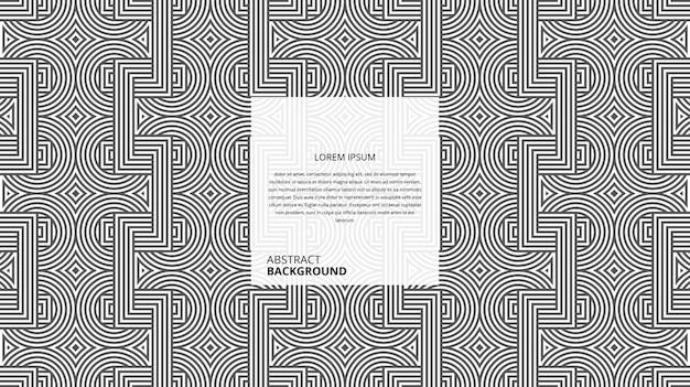 Motif de lignes en zigzag carré circulaire décoratif abstrait
