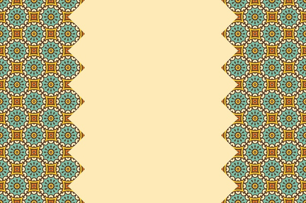Motif linéaire sans soudure coloré géométrique