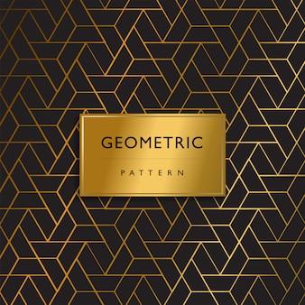 Motif de luxe haut de gamme géométrique