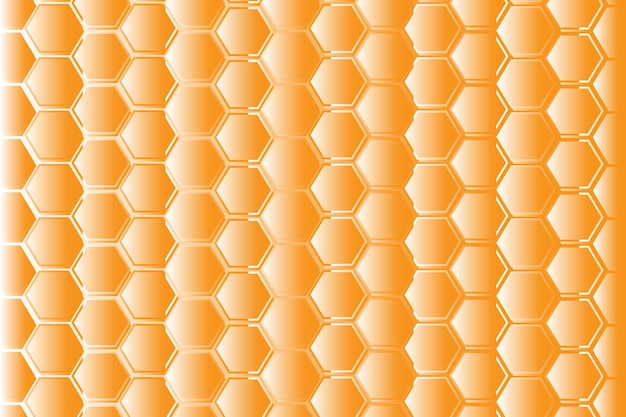 Motif de maille en nid d'abeille hexagonal jaune