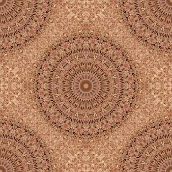 Motif De Mandala Abstrait Fleur Géométrique Bohème Vecteur Premium