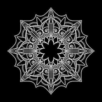 Motif de mandala blanc sur fond blanc