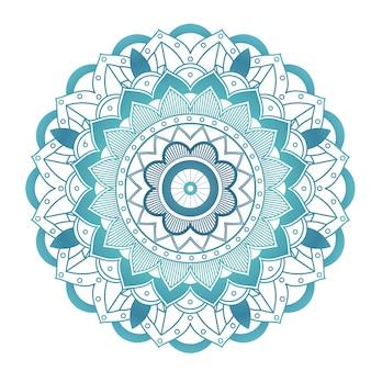 Motif de mandala sur blanc