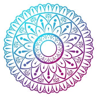 Motif de mandala coloré