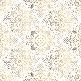 Motif de mandala décoratif doré