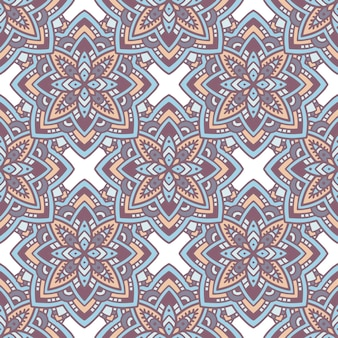 Motif de mandala ethnique. contours, illustration dessinée à la main d'un modèle vectoriel de mandala ethnique pour la conception de sites web