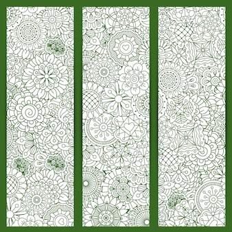 Motif de mandala floral vert
