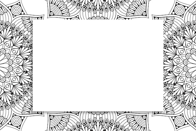 Motif de mandala ornemental décoratif avec fond.