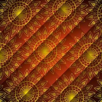 Motif de mandala ornemental