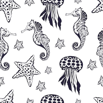 Motif marin sans soudure