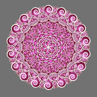 Motif de médaillon indien floral paisley. ornement ethnique de mandala. style de tatouage au henné.