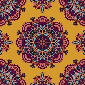 Motif de médaillon indien floral paisley. ornement ethnique de mandala.