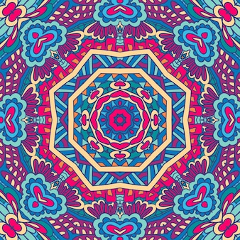Motif de médaillon paisley géométrique ornement de mandala ethnique