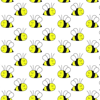 Motif mignon d'abeille