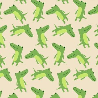 Motif mignon de bébé crocodile