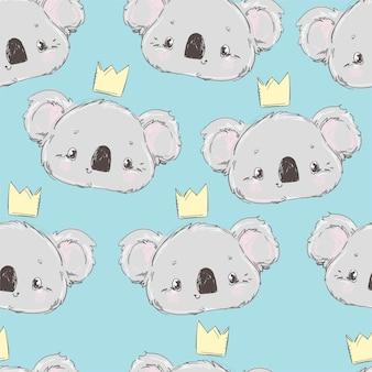 Motif mignon koala sans soudure