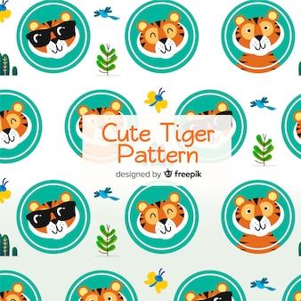 Motif mignon de tigre