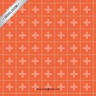 Motif de modèle de la croix rouge