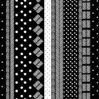 Motif moderne monotone noir et blanc