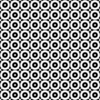 Motif monochromatique avec cirlces
