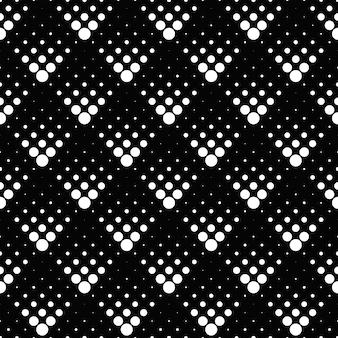 Motif monochrome rétro géométrique modèle sans couture