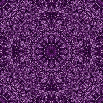 Motif De Mosaïque Bohème Abstrait Mandala Oriental Sans Soudure Vecteur Premium
