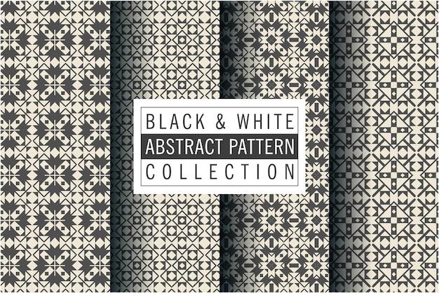 Motif de mosaïque en couleur noir et blanc
